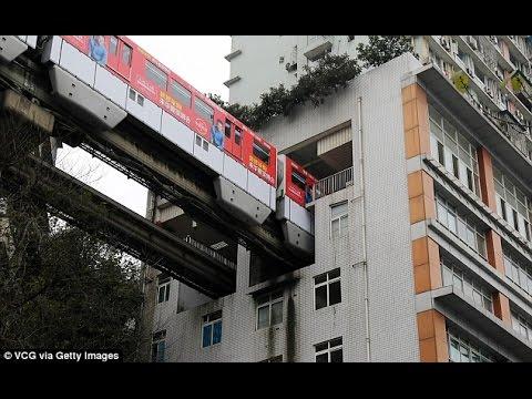 इस शहर में 19 मंजिला बिल्डिंग के बीच से गुजरती है ट्रेन