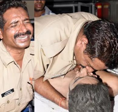 इकलौते जवान बेटे को मुंह से देता रहा सांसें, शिवमंगल की इस हालत पर फूट पड़े आंसू