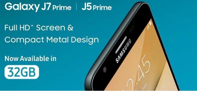 सैमसंग गैलेक्सी जे7 प्राइम, जे5 प्राइम के 32GB वेरियंट की बिक्री अब भारत में शुरू