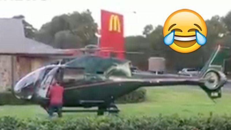 पायलट को भूख लगी तो उसने हेलीकॉप्टर को दुकान के सामने लैंड किया