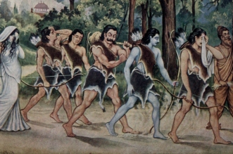 The Pandavas had eaten