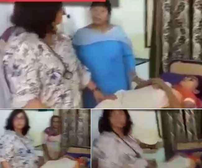नशे में धुत मरीजों का इलाज करने पहुंची महिला डॉक्टर, वीडियो हुआ वायरल