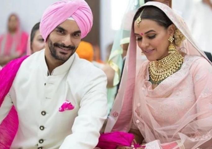 शादी के बंधन में बंधते ही वायरल हुआ नेहा धूपिया के नाम का भोजपुरी Song