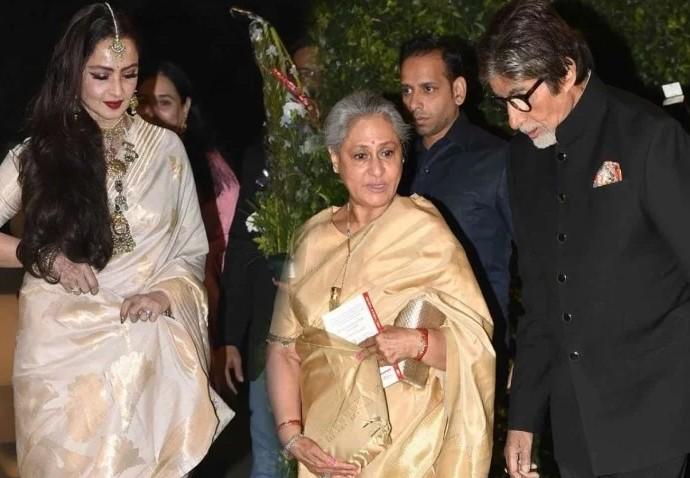 अमिताभ की फिल्म देख रेखा ने की तारीफ, ये बात सुन जया ने खोया अपना आपा...
