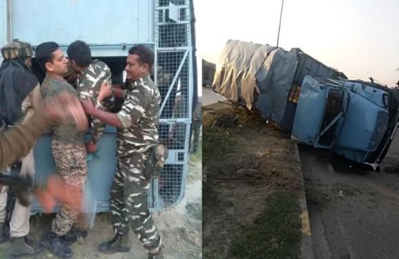 अभी अभी आई बड़ी खबर: जम्मू-कश्मीर में पलटा CRPF का वाहन, 19 जवान घायल