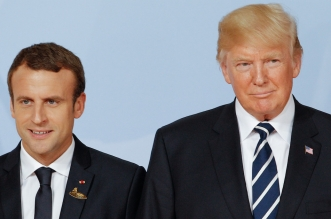 अमेरिकी राष्ट्रपति ट्रंप और मैक्रॉन के बीच शांति एवं स्थिरता को लेकर हुई चर्चा