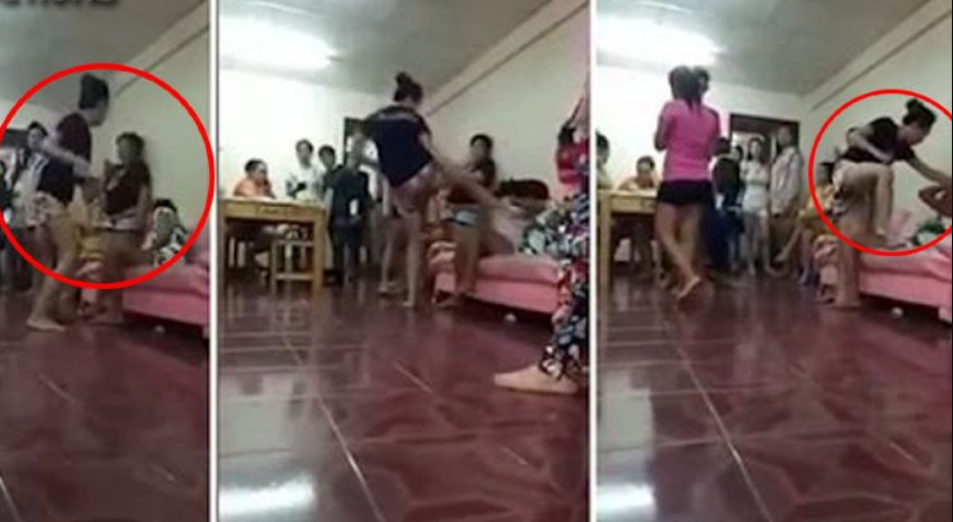 पार्टी में पत्नी ने पति की गर्लफ्रेंड पर जमकर बरसाए लात-घुसे… वीडियो वायरल
