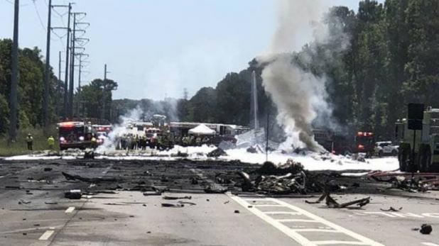 अमेरिकी सैन्य विमान में आग लगने से 9 की मौत