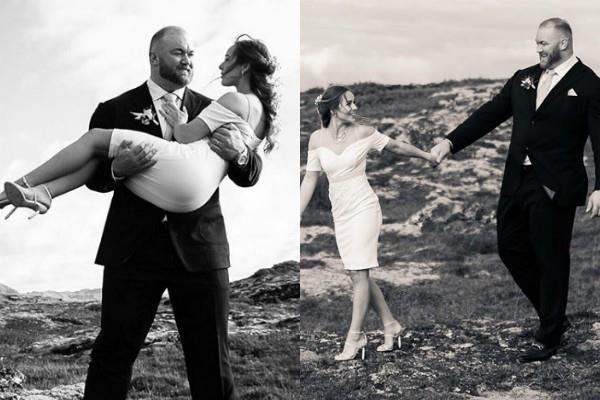 Photo of 'गेम ऑफ थ्रोन्स' के 'द माउंटेन' ने गर्लफ्रेंड संग रचाई शादी, बेहद रोमांटिक तस्वीरें हुई वायरल