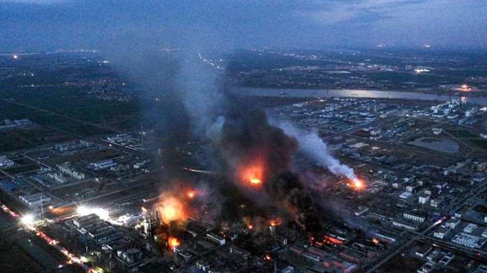 चीन में रासायनिक संयंत्र में विस्फोट से मरने वालों की संख्या हुई 64...
