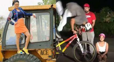 Photo of देखे VIDEO, JCB के बाद अब साईकिल के साथ छाईं सनी लियोन