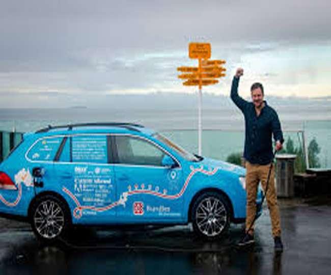 Photo of ई-कार की मदद से महज 3 साल में एक लाख किलोमीटर का सफर, 30 देशों का किया भ्रमण