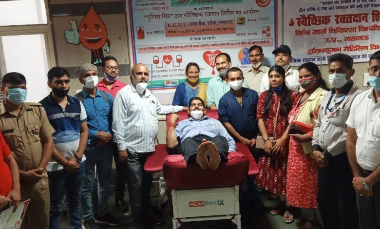 Photo of विश्व रक्तदाता दिवस पर 31 पुलिसकर्मियों और 9 महिलाओं ने किया रक्तदान